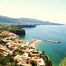 mountain view of sorrento by Hannah Grubb