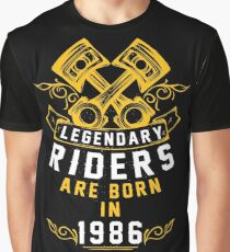 Legendary Riders Are Born In 1986 Graphic T-Shirt