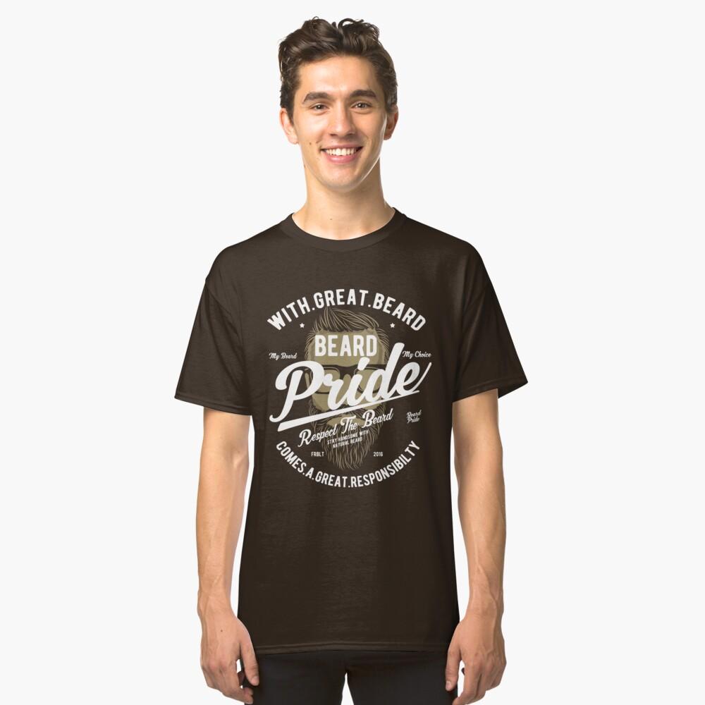 Beard Pride Vintage T-shirt Classic T-Shirt Front
