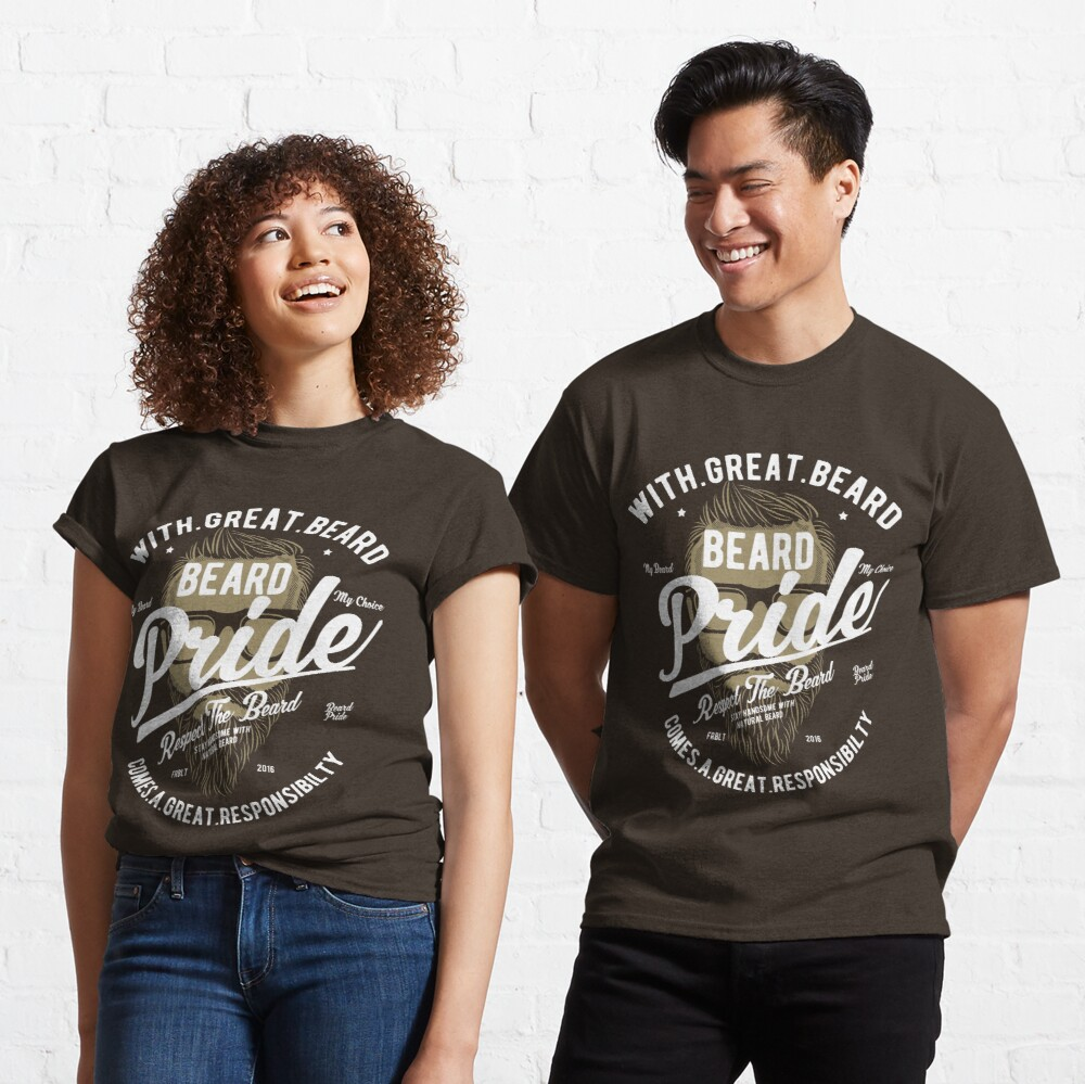 Beard Pride Vintage T-shirt Classic T-Shirt