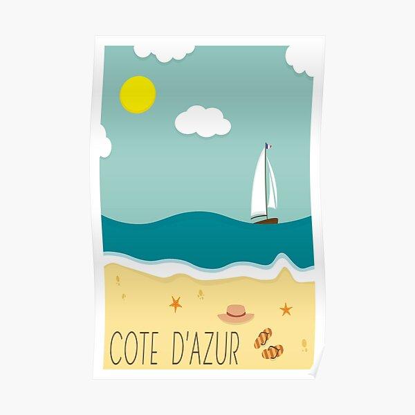 Côte d'Azur, Affiche de voyage Poster