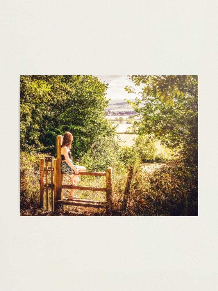 Alternate view of Summer-haze landscape Photographic Print