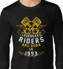 Legendary Riders Are Born In 1993 Long Sleeve T-Shirt