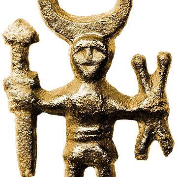 Viking Golden Odin by Bazyartass