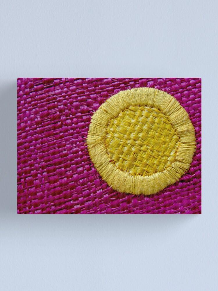 Alternate view of Woven Sun Canvas Print