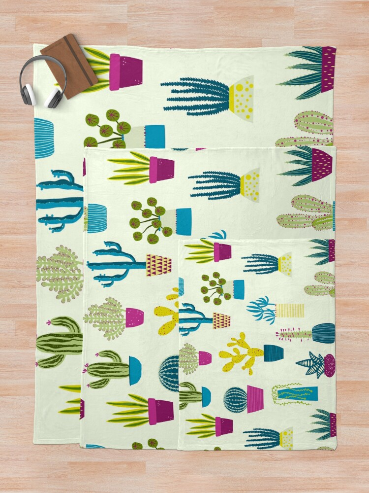 Alternate view of Cactus Garden Throw Blanket