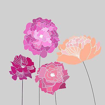 Peony flowers by narais