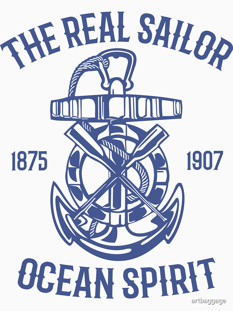 The Real Sailor Ocean Spirit Adventure T-shirt by artbaggage