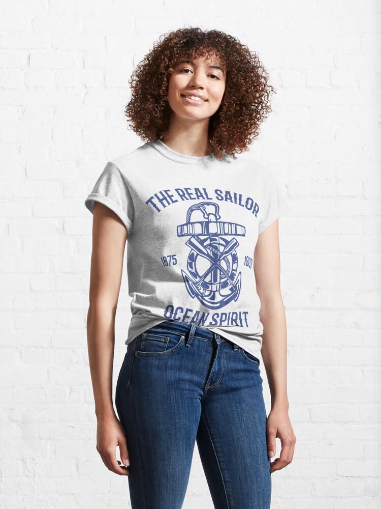 Alternate view of The Real Sailor Ocean Spirit Adventure T-shirt Classic T-Shirt