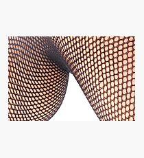 Fishnet Knee Photographic Print