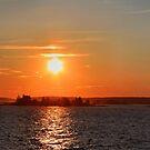 'Schoodic Sunset with Island Lighthouse 2' by Scott Bricker