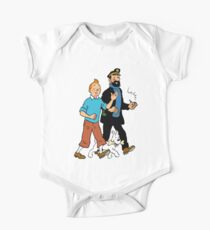 Tintin and Captain Haddock Baby Body Kurzarm