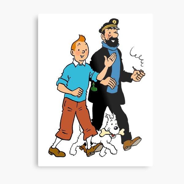 Tintin and Captain Haddock Metal Print