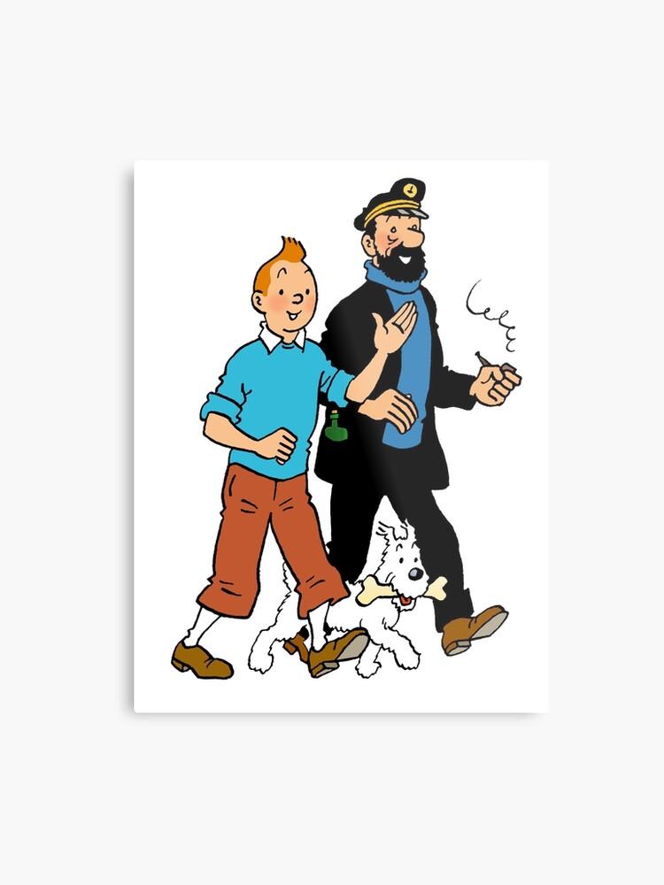 Tintin and Captain Haddock | Metal Print