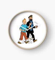 Tintin and Captain Haddock Clock
