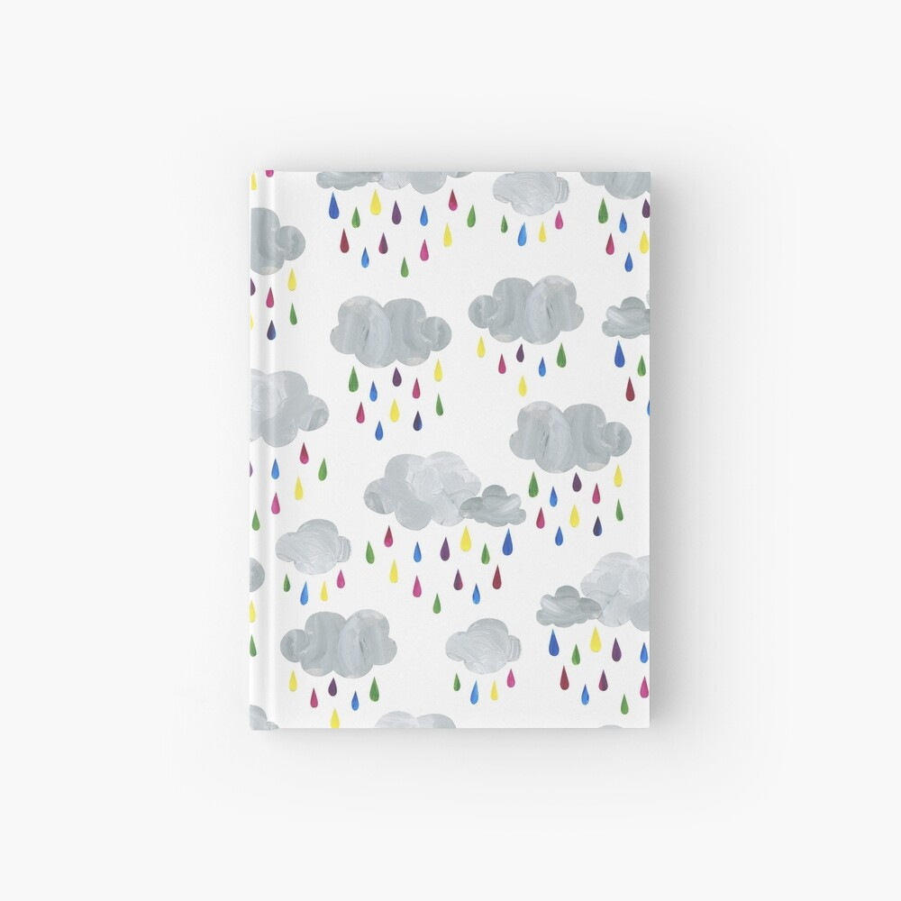 Rainbow Rain Clouds Hardcover Journal
