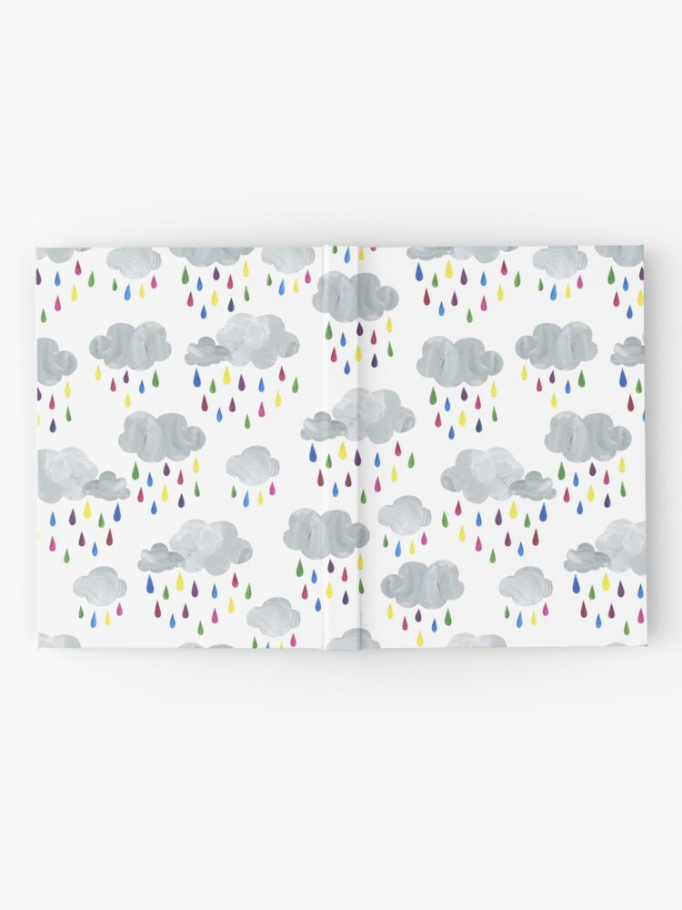 Alternate view of Rainbow Rain Clouds Hardcover Journal