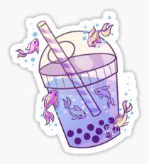 Boba Tea Fish Sticker