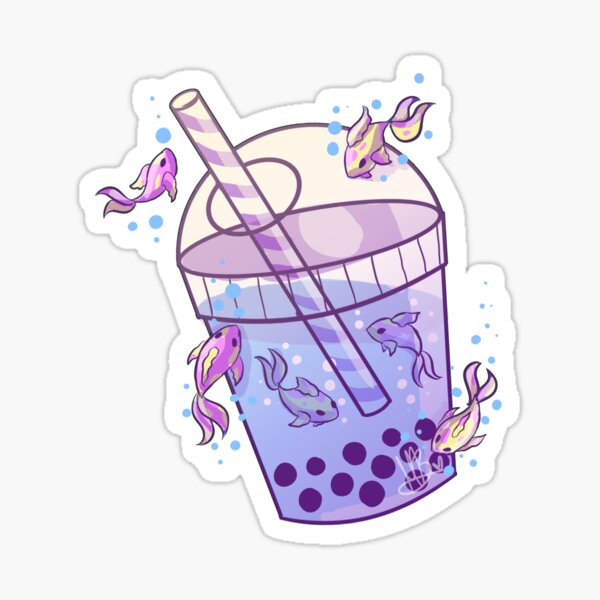 Boba Tea Fish Sticker