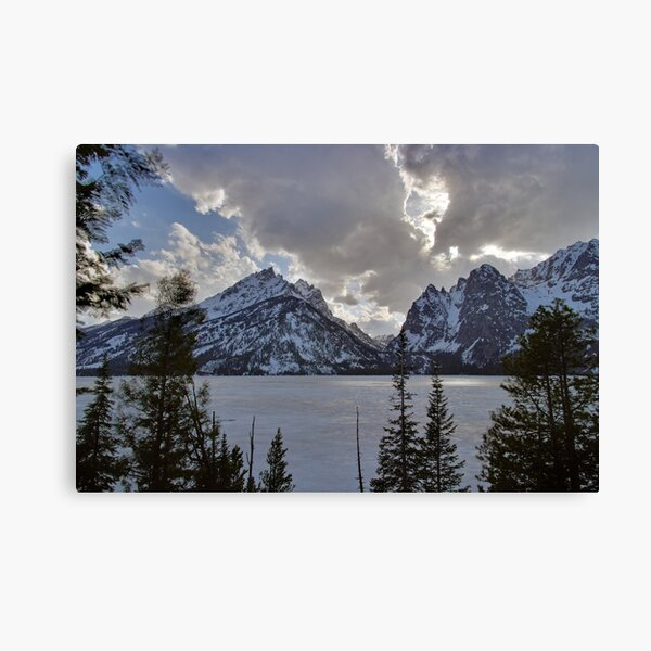 Frozen Jenny Lake - Teton National Park Canvas Print