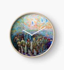Prisoners Exercising (after Doré), 1890 van Gogh, Fine Art, Clock