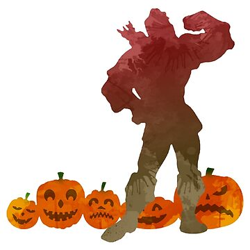 Man in pumpkin patch Inspired Silhouette by InspiredShadows