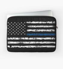 Blue Line (White) V2 Laptop Sleeve