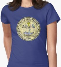 TENNESSEE STATE SEAL - POPULAR DISTRESSED STATE DESIGN WITH TENNESSEE STATE SEAL Women's Fitted T-Shirt