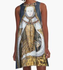 Elizabeth I Coronation Portrait A-Line Dress