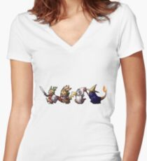 Final Fantasy Pokemon Women's Fitted V-Neck T-Shirt