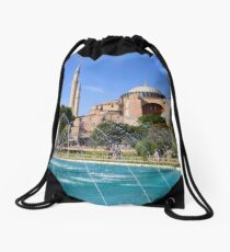 Hagia Sophia In Istanbul Drawstring Bag