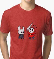 Camiseta de tejido mixto Hollow Shy Guy