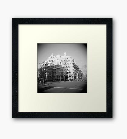 La Pedrera  Framed Print