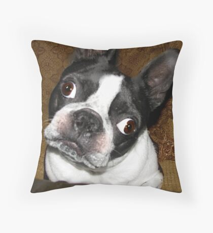 Huh?  Did you say something!   Throw Pillow