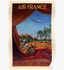 "Vintage Reiseplakat ""Air France - Afrika"" Poster"