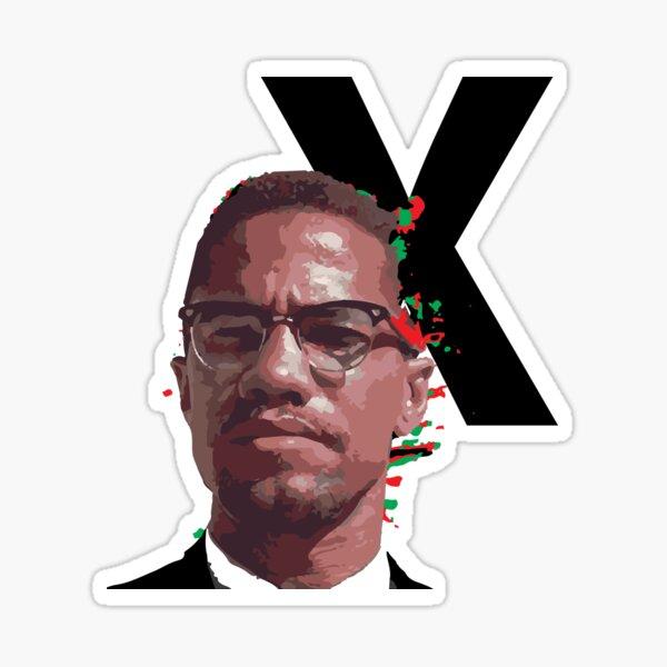 Malcolm X Power Sticker