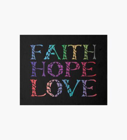 Faith Hope Love - Leaf Typography - Corinthians Art Board