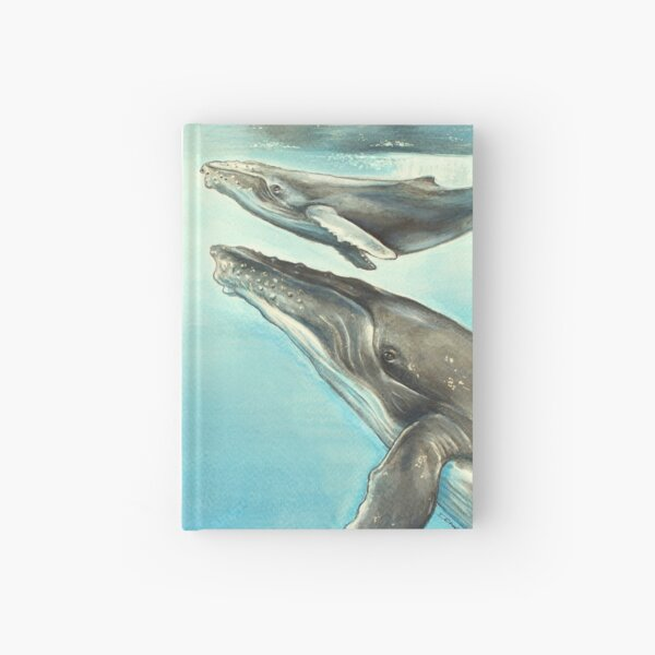 Humpback whale and calf Hardcover Journal
