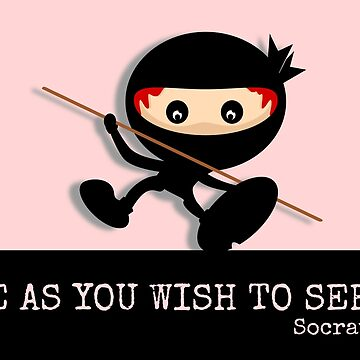 Ninja Be As You Wish To Seem Socrates by piedaydesigns