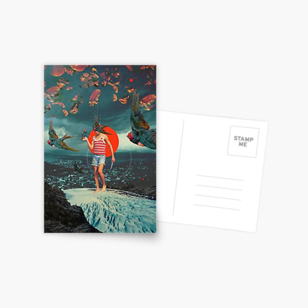 Der Junge und die Vögel Postkarte
