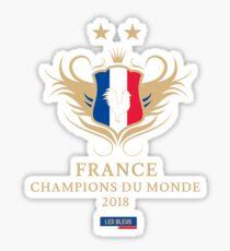 France Champion Du Monde 2018 • Les Bleus • Football World Cup Champion 2018 ID 9-3 Sticker
