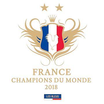 France Champion Du Monde 2018 • Les Bleus • Football World Cup Champion 2018 ID 9-3 by UNIQ-Apparel