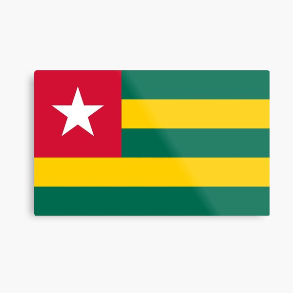 Togo Flag- Designs created from the Togo flag! Metal Print