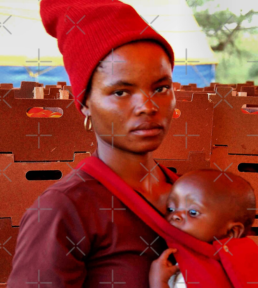 CHILDREN OF AFRICA, THE YOUNG AND THE OLD, SERIES, WOMAN AT WORK by Magriet Meintjes