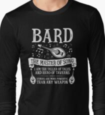 BARD, THE MASTER OF SONG - Dungeons & Dragons (White) Long Sleeve T-Shirt