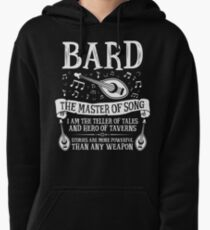 BARD, THE MASTER OF SONG - Dungeons & Dragons (White) Pullover Hoodie