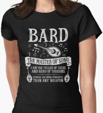 BARD, THE MASTER OF SONG - Dungeons & Dragons (White) Women's Fitted T-Shirt