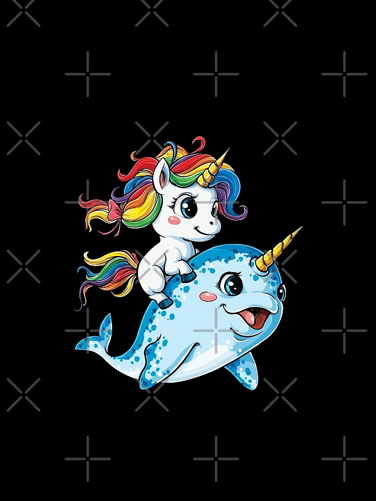 Unicorn Riding Narwhal T shirt Squad Girls Kids Rainbow Unicorns Gifts Party by LiqueGifts