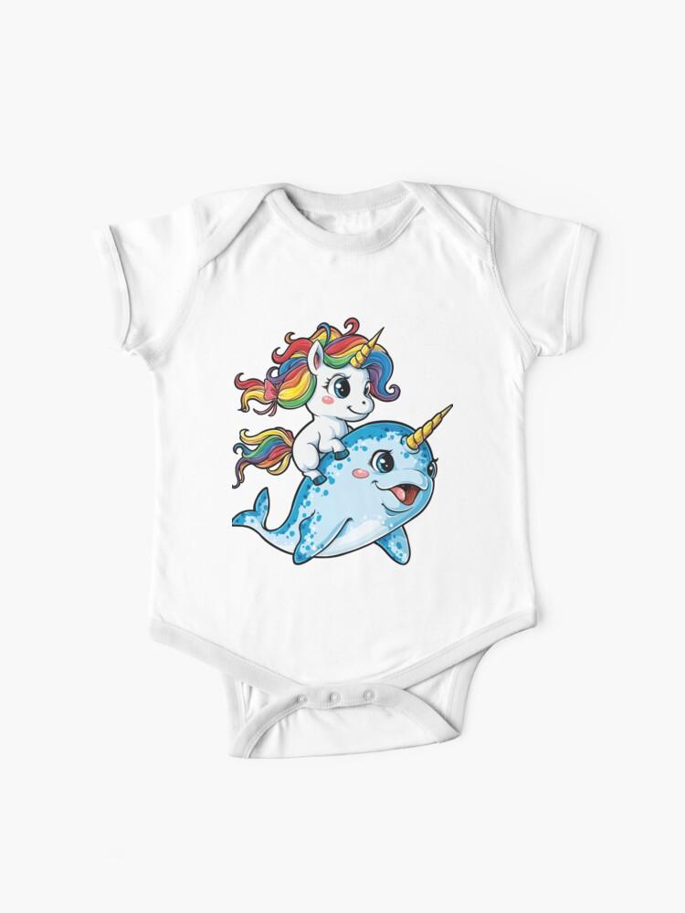 Rainbow Unicorn Donut Short-Sleeve T-Shirts for 2-6T Girl