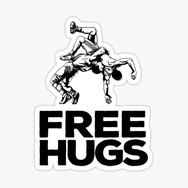 Free Hugs Wrestling Sticker